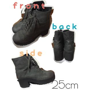 Riyu様グレーショートブーツ*25cm(ブーツ)