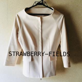 ストロベリーフィールズ(STRAWBERRY-FIELDS)のストロベリーフィールズジャケットコート(ノーカラージャケット)