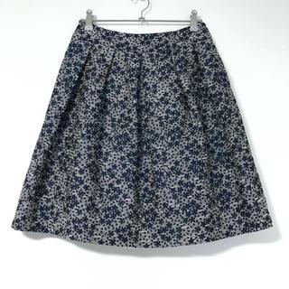 ストラ(Stola.)のStola. 紺系 ジャガード刺繍のスカート(ひざ丈スカート)