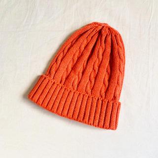 メゾンドリーファー(Maison de Reefur)のmaison de reefur ニットキャップ オレンジ(ニット帽/ビーニー)