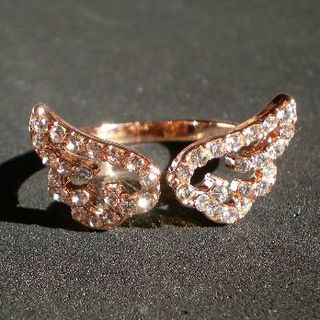 指輪 天使の羽 ピンクゴールド サイズフリー(リング(指輪))