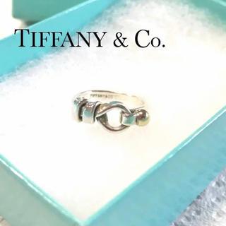 ティファニー(Tiffany & Co.)のティファニーリング  シルバー/K18 フックアンドアイ(リング(指輪))