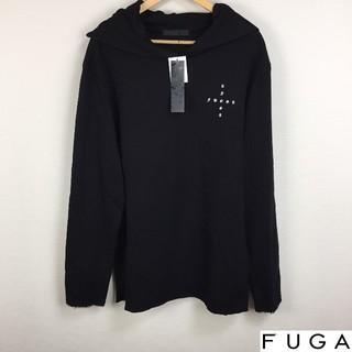 フーガ(FUGA)の新品 FUGA フーガ 長袖パーカー ブラック フリーサイズ タグ付未使用品(パーカー)
