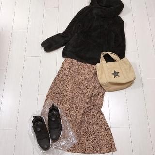 HOLLYWOOD RANCH MARKET - 大人可愛いボアパーカーコーデ♡ハリウッドランチマーケットロングスカート