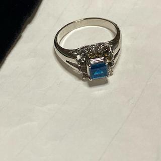 ブルー石のリング(リング(指輪))