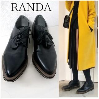 ランダ(RANDA)の【RANDA】厚底 レースアップ ローファー(ローファー/革靴)