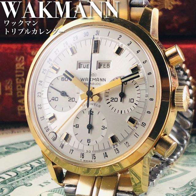ロレックス gmt スーパーコピー時計 、 BREITLING - ★超絶美品!!トリカレ!!★WAKMANN/ワックマン/クロノグラフ/腕時計の通販