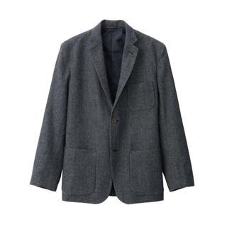ムジルシリョウヒン(MUJI (無印良品))の【値下げ】無印良品 再生ウール混 ジャケット(テーラードジャケット)