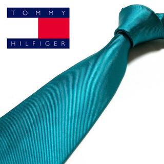 トミーヒルフィガー(TOMMY HILFIGER)の【美品】TOMMY HILFIGER ネクタイ 米国製 プレーン 織柄(ネクタイ)