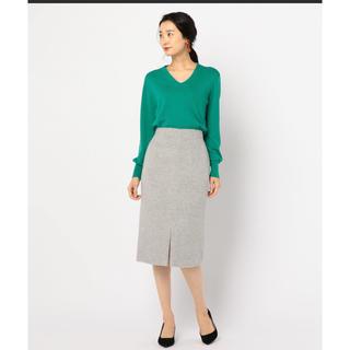 ノーリーズ(NOLLEY'S)のnolley's*アルパカシャギータイトスカート(ひざ丈スカート)