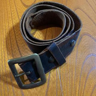 ダブルアールエル(RRL)のRRL ダブルアールエル italy 製 イタリア製 レザー ブラック ベルト(ベルト)