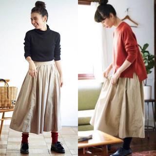 フェリシモ(FELISSIMO)の❄︎koharukoha様専用❄︎ 渾身のベージュ色タックスカート(ロングスカート)