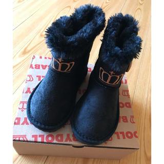 ベビードール(BABYDOLL)のBABYDOLL 新品未使用 子ども ムートンブーツ ブラック 15cm(ブーツ)