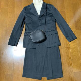 アニエスベー(agnes b.)のアニエスベー スカートセットアップスーツ 黒(スーツ)