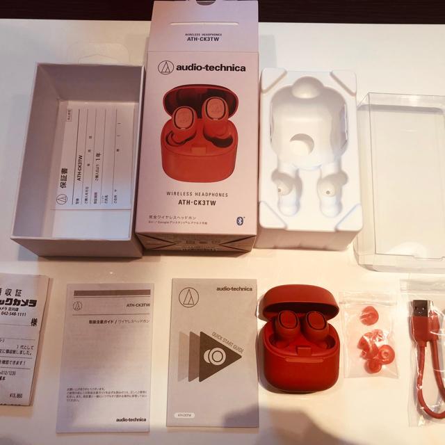 audio-technica(オーディオテクニカ)のaudio-technica ATH-CK3TW スマホ/家電/カメラのオーディオ機器(ヘッドフォン/イヤフォン)の商品写真