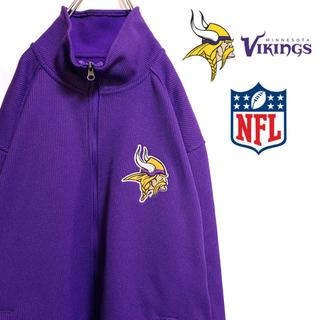 リーボック(Reebok)の〔激レア〕NFL バイキングス ジャージ トラックジャケット フリース裏地 刺繍(ジャージ)