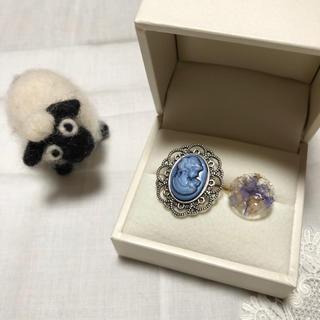 カメオリング ブルー 2個セット(リング(指輪))