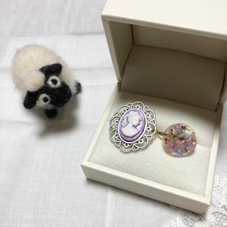 カメオリング パープル 紫 リング 指輪 (リング(指輪))