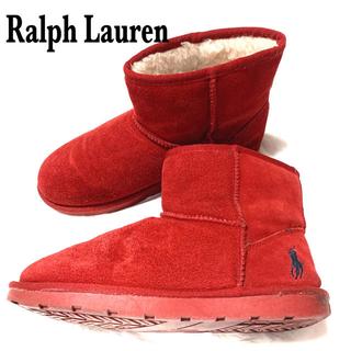 ラルフローレン(Ralph Lauren)のRalph Lauren ムートンブーツ 24 レッド(ブーツ)