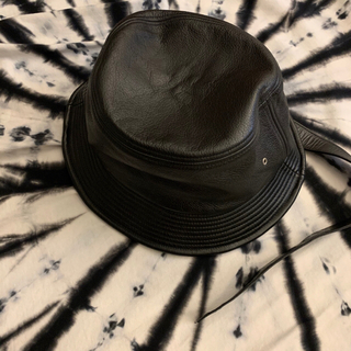PEACEMINUSONE - PMO LEATHER BUCKET HAT #1