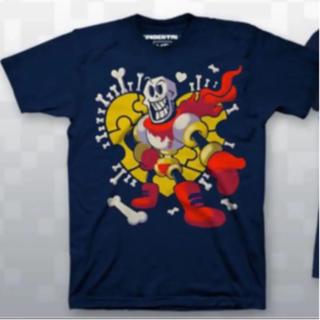 プレイステーション4(PlayStation4)のUndertale パピルス Tシャツ 3Xサイズ(Tシャツ/カットソー(半袖/袖なし))