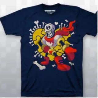 プレイステーション4(PlayStation4)のUndertale パピルス Tシャツ 2Xサイズ(Tシャツ/カットソー(半袖/袖なし))