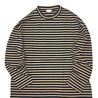 アンユーズド(UNUSED)の【求】19aw unused ボーダー beige(Tシャツ/カットソー(七分/長袖))