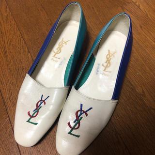 サンローラン(Saint Laurent)のYSL ヴィンテージ ローファー ローヒール パンプス(ローファー/革靴)