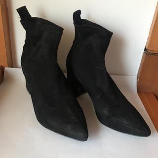 ベルシュカ(Bershka)のショートブーツ ソックス ブラック(ブーツ)