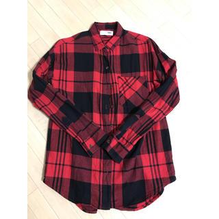 オールドネイビー(Old Navy)のOLD NAVY  赤 チェックシャツ ネルシャツ(シャツ/ブラウス(長袖/七分))