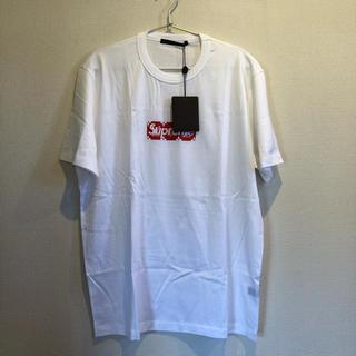 ルイヴィトン(LOUIS VUITTON)のSupreme LOUIS VUITTON BOXロゴ Tシャツ(Tシャツ/カットソー(半袖/袖なし))