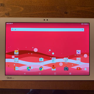 エルジーエレクトロニクス(LG Electronics)のandroidタブレット Qua tab PZ [ピンク] LGT32(タブレット)