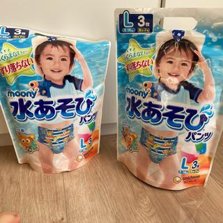 ユニチャーム(Unicharm)のMoony 水遊びパンツ Lサイズ(9〜14キロ) 男の子用 5枚(水着)