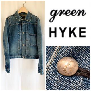 ハイク(HYKE)の希少 美品 初期green (現HYKE) 加工デニムジャケット 1st型(Gジャン/デニムジャケット)