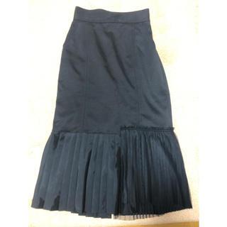 ステュディオス(STUDIOUS)のお値下げ United Tokyo  裾プリーツスカート  ブラック(ひざ丈スカート)