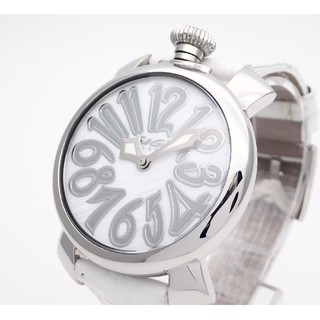 ガガミラノ(GaGa MILANO)の【GaGaMILANO】ガガミラノ腕時計 'マヌアーレ40' ☆ホワイトシェル☆(腕時計)