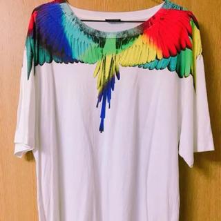 マルセロブロン(MARCELO BURLON)のMARCELO BURLON フェザーTシャツ(レインボー)(Tシャツ/カットソー(半袖/袖なし))