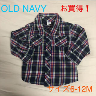 オールドネイビー(Old Navy)のOLD NAVY チェックシャツ 6-12M(シャツ/カットソー)