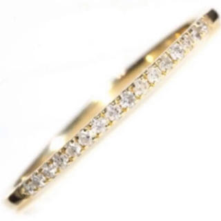 新品❤️18金ダイヤモンドハーフエタニティリング指輪K18イエローゴールド(リング(指輪))