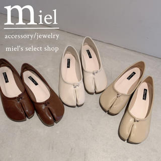 トゥデイフル(TODAYFUL)のtabi flat shoes/足袋フラットシューズ(バレエシューズ)