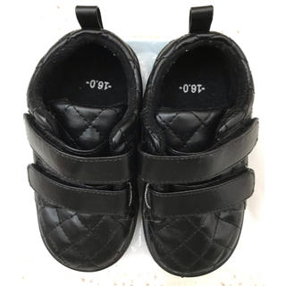 シマムラ(しまむら)のバースデー スニーカー 入園 靴 黒 フォーマル 式 女の子 男の子(フォーマルシューズ)