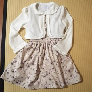 axes femme - 入園入学に❤︎.*花柄ワンピース・ボレロカーディガンセット☆120