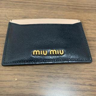ミュウミュウ(miumiu)の☆美品☆miumiu パスケース (パスケース/IDカードホルダー)