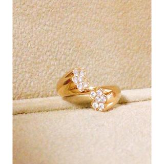 k18 ダイヤ デザインピンキーリング(リング(指輪))