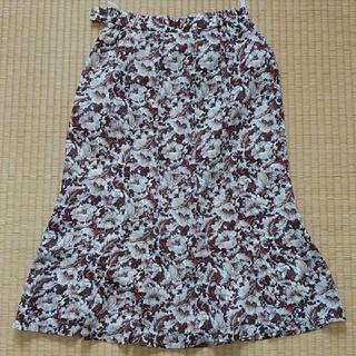 グリモワール(Grimoire)のヴィンテージ マーメイドライン花柄スカート(ロングスカート)