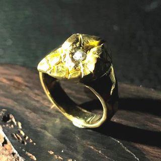k18 ダイヤモンド原石 0.260ct 完全オリジナル リング!(リング(指輪))