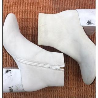 エムエムシックス(MM6)の【新品・アウトレット】MM6 Maison Margielaホワイトブーツ(ブーツ)