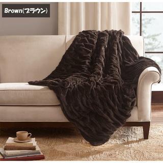 ブランケット エレガントシャーリングファー 127cm x 152cm サイズ(毛布)