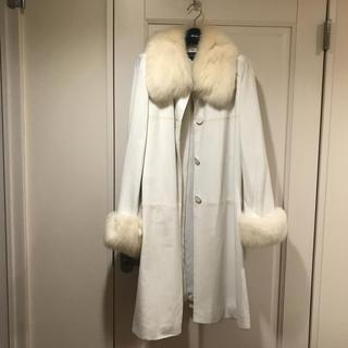 FOXEY - フォクシー38    ホワイト羊革コート  毛皮