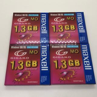 マクセル(maxell)の新品 maxell MOディスク 1.3GB 4枚(PC周辺機器)